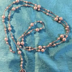 Silver Pearl Mala Necklace